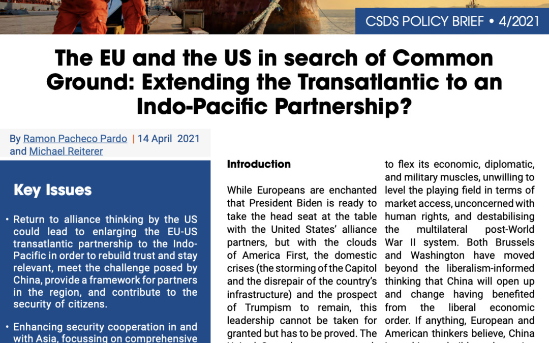 The EU and the US in search of Common Ground: Extending the Transatlantic to an Indo-Pacific Partnership?