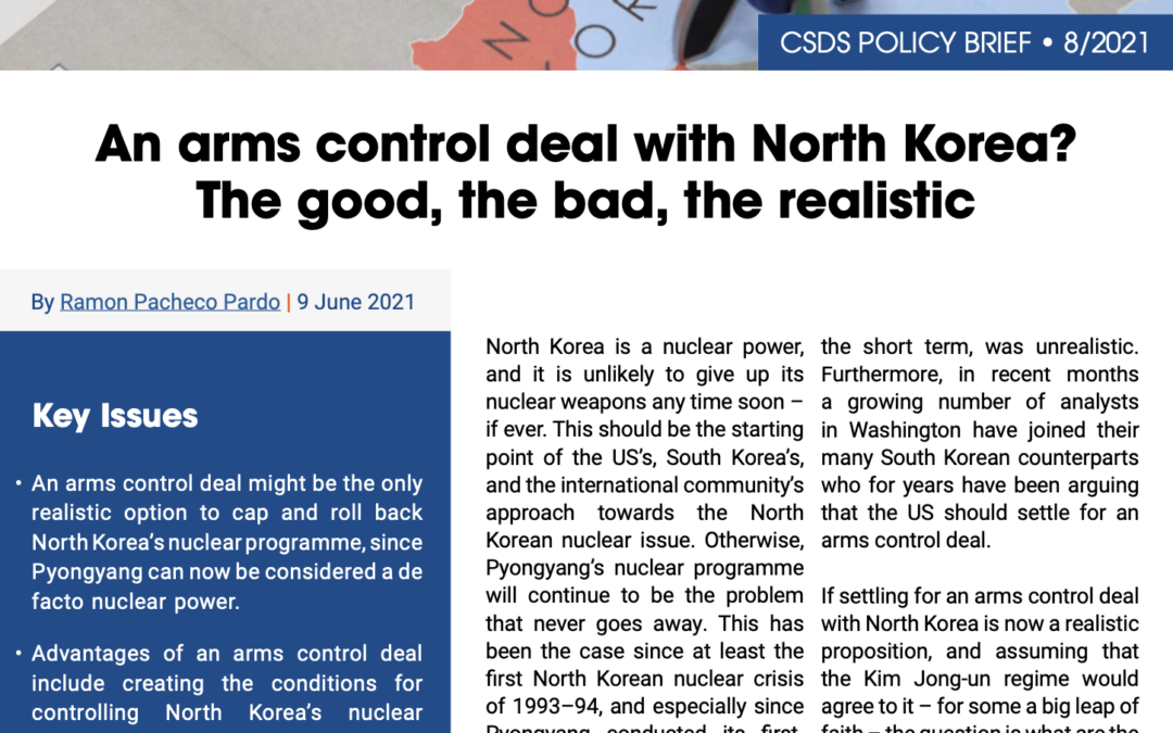 An arms control deal with North Korea? The good, the bad, the realistic